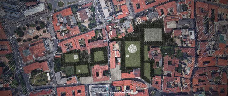 Riqualificazione centro Busto Arsizio, L'area a parco dell'ex Conventino