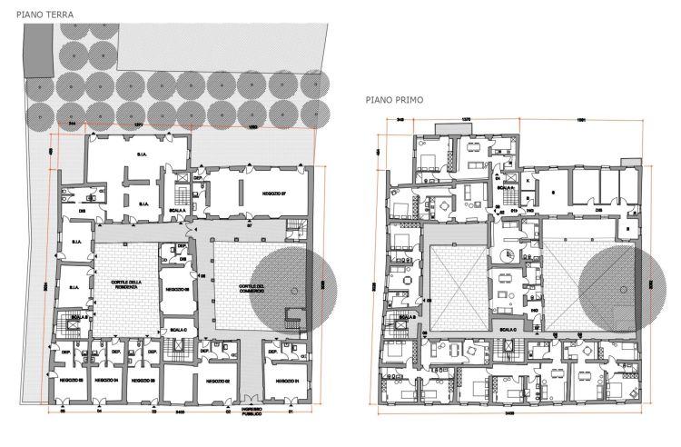 Riqualificazione del centro di Busto Arsizio: Pianta delle residenze dell'ex Conventino