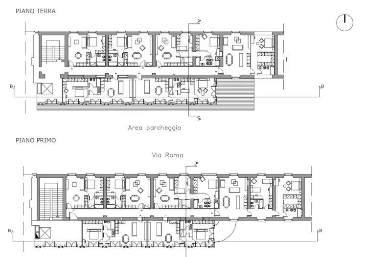 Riqualificazione centro di Busto Arsizio, Pianta delle residenze dell'ex Presidio militare