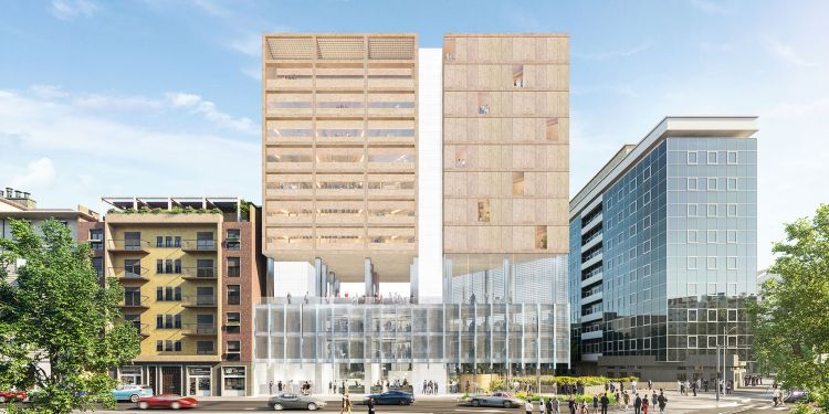 Riqualificazione piazzale Loreto a Milano, La facciata dell'edificio a torre