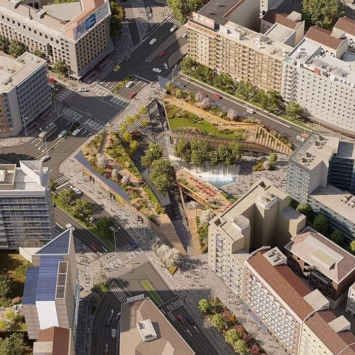 Render progetto di riqualificazione di piazzale Loreto a Milano