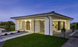 Design elegante e comfort unico, con la casa in legno CLARON 1.1090