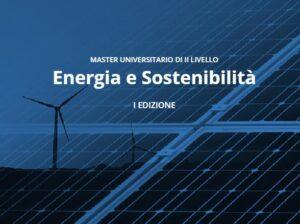 Master in Energia e Sostenibilità