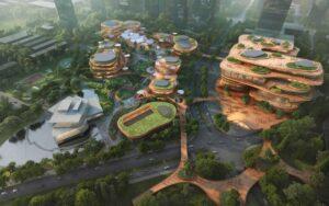 Shenzhen Terraces: l'hub sostenibile che integra paesaggio e tempo libero