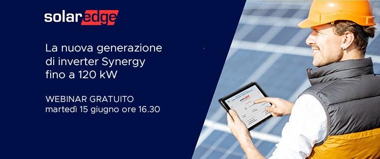 La nuova generazione di inverter Synergy fino a 120 kW
