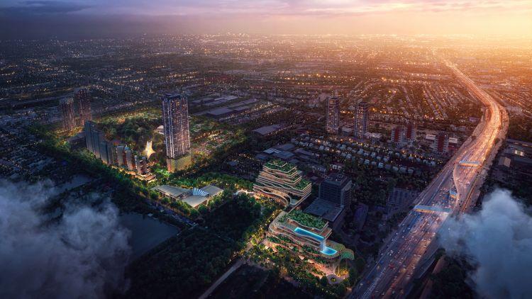 The Forestias, progetto dello studio Foster + Partners a Bangkok, in Thailandia