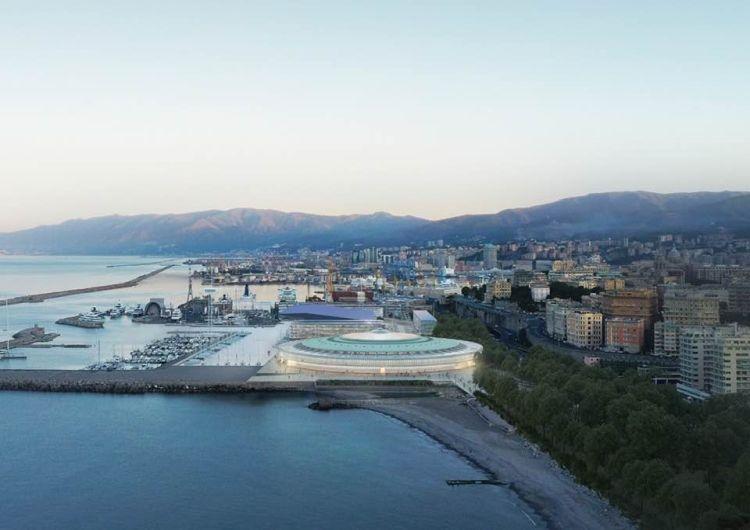 Render del Waterfront di Levante di Genova secondo il concept di Renzo Piano e il progetto di RPBW e OBR