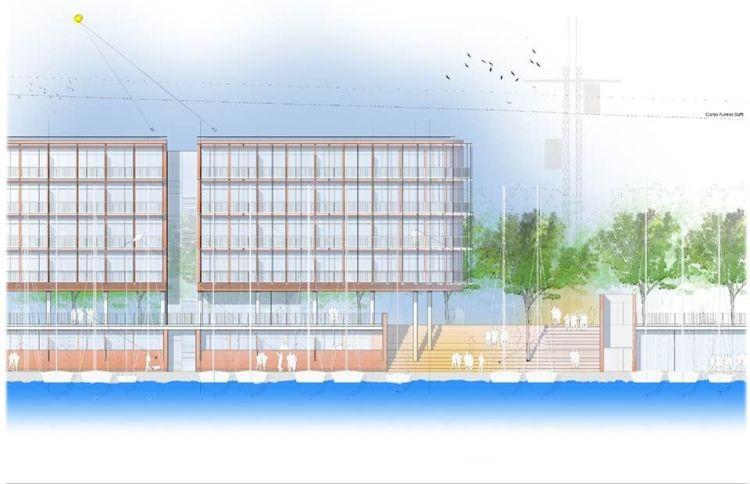 Render degli edifici nel progetto del del Waterfront di Levante di Genova