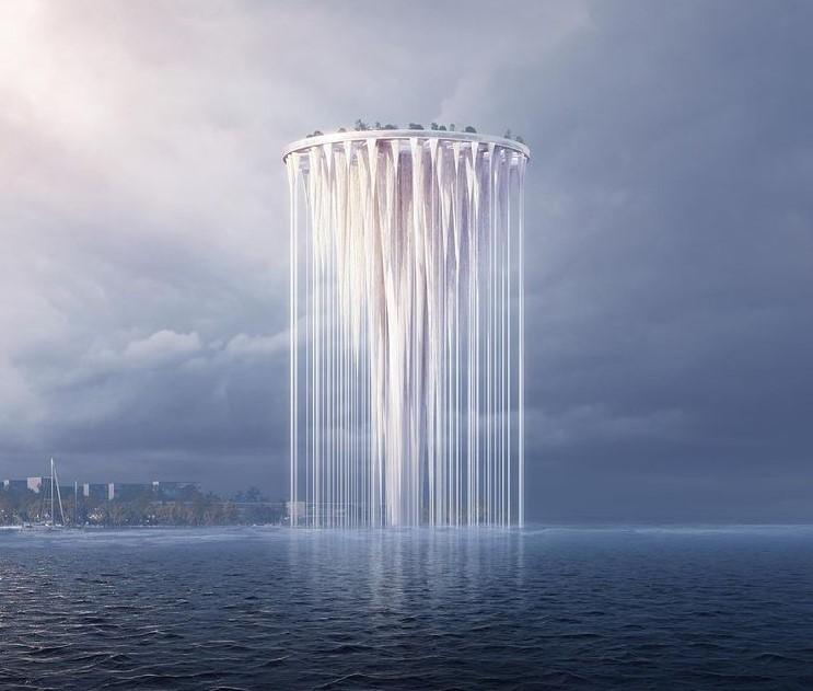 La torre eterea di Fujimoto galleggerà sulla baia di Shenzhen