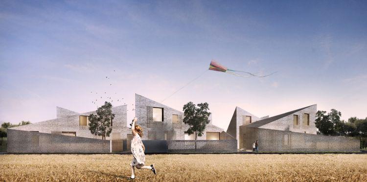 Rendering del progetto delle ville passive a Jesolo
