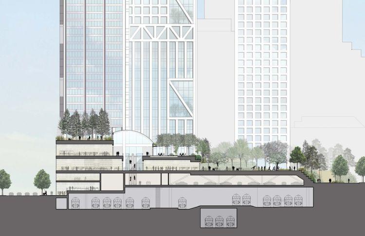 Orca Toronto, sezione di progetto