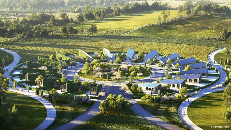 Sunflower: il villaggio residenziale e sostenibile, stampato in 3D