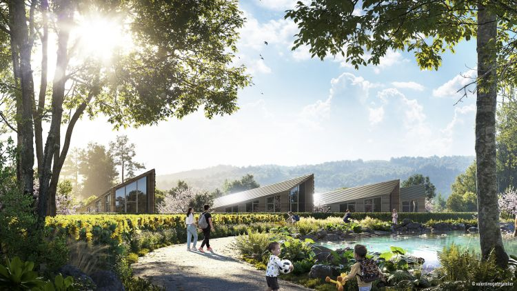 Sunflower: villaggio sostenibile con case stampate in 3D