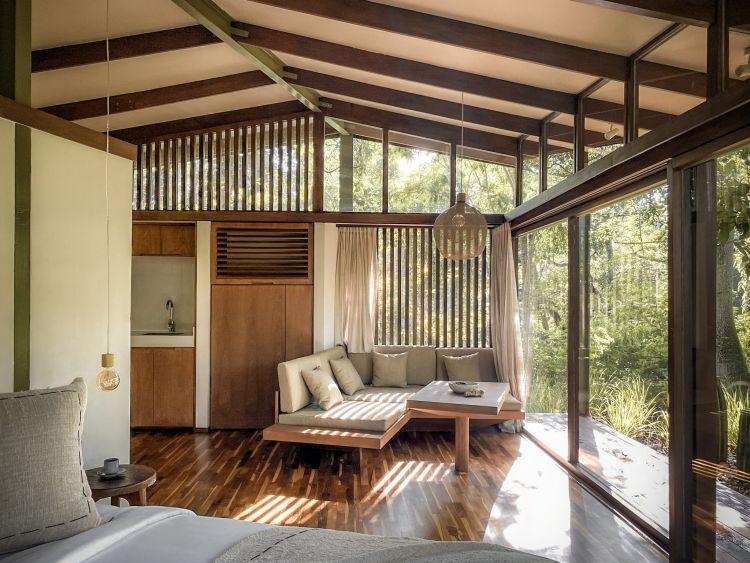 L'interno della Tiny Tetra House