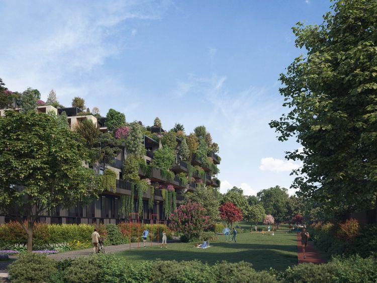 Bosconavigli, pareti e tetti verdi a Milano