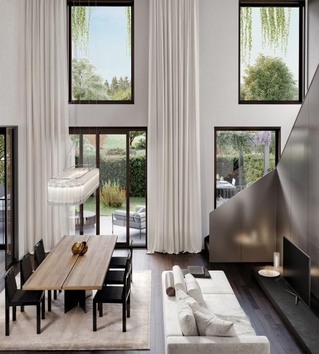 Bosconavigli a Milano, alloggio duplex con vista sul giardino