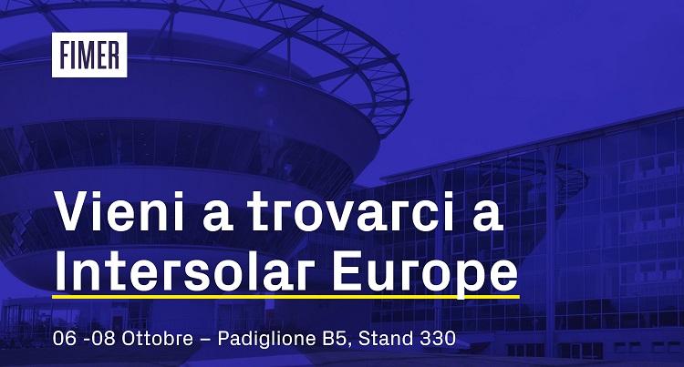 Le soluzioni di FIMER a Intersolar Europe 2021