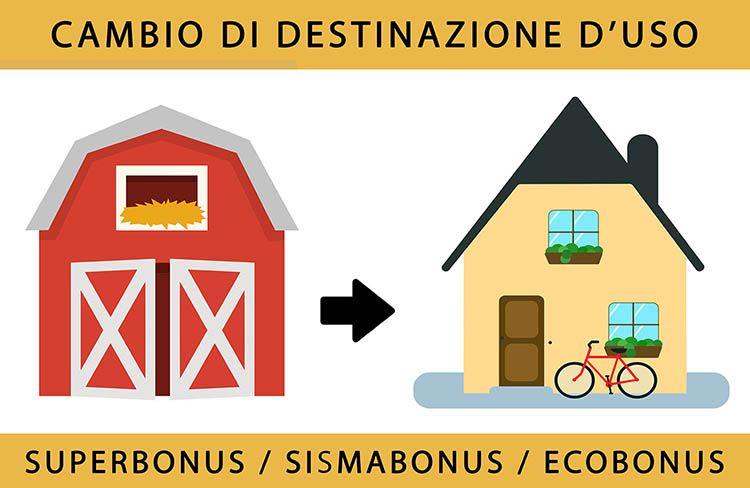 Superbonus e cambio di destinazione d'uso: da stalla (o magazzino) ad abitazione