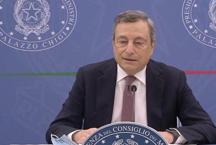 Il Presidente del Consiglio Mario Draghi alla presentazione della Nota di aggiornamento al Documento di economia e finanza (Nadef)