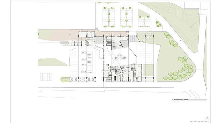 Pianta del piano terra del Porsche Experience Center di Castrezzato