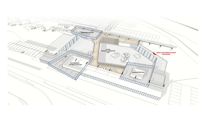 Sezione del Porsche Experience Center di Castrezzato